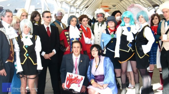 Group Shot of the Ace Attorney Cosplayers