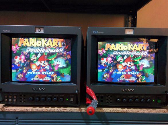 2x 9 inch Sony PVMs running Mario Kart: Double Dash